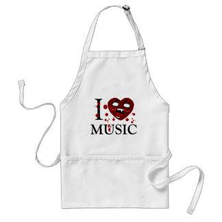 Amante del music_ delantal