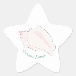Amante del océano pegatinas forma de estrella
