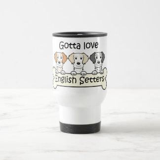 Amante del organismo inglés taza de café