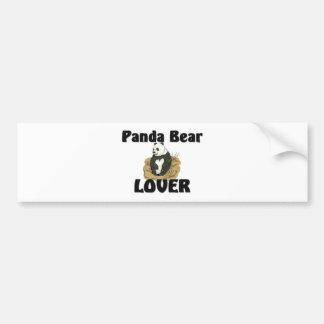 Amante del oso de panda pegatina de parachoque