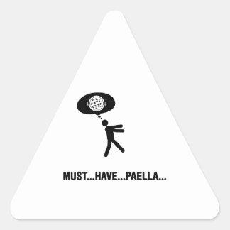 Amante del Paella Calcomania Triangulo