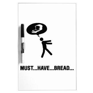 Amante del pan pizarras blancas de calidad