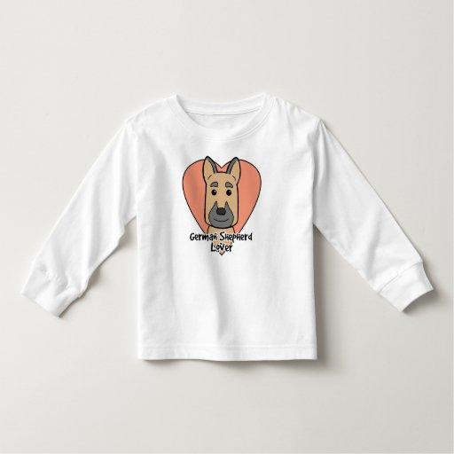 Amante del pastor alemán camisetas