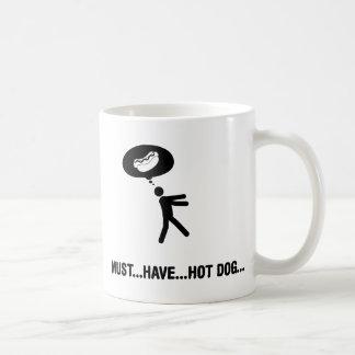 Amante del perrito caliente taza clásica