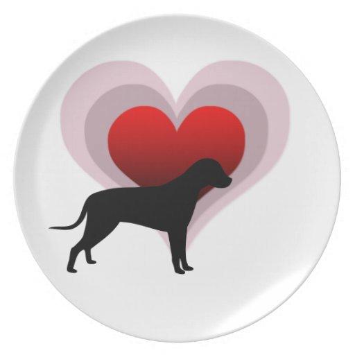 Amante del perro - adaptable platos para fiestas
