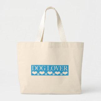Amante del perro bolsa de mano