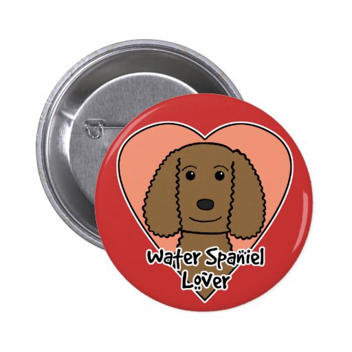 Amante del perro de aguas de agua americana pin redondo 5 cm