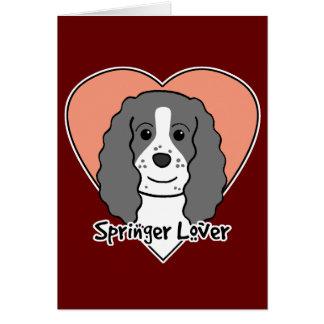 Amante del perro de aguas de saltador inglés tarjetón