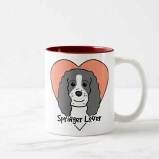 Amante del perro de aguas de saltador inglés taza