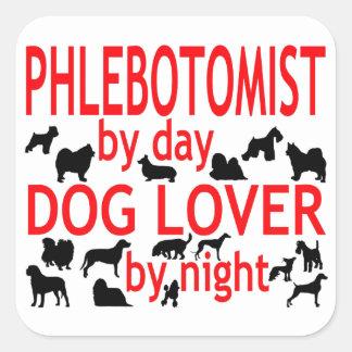 Amante del perro de Phlebotomist Colcomanias Cuadradas