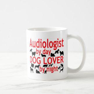 Amante del perro del audiólogo taza de café