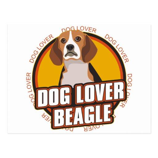 Amante del perro del beagle postal