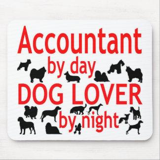 Amante del perro del contable alfombrillas de raton