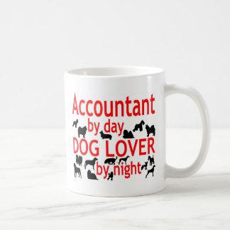 Amante del perro del contable taza de café