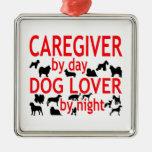 Amante del perro del cuidador adorno de navidad
