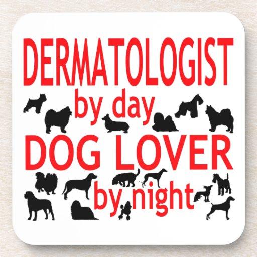 Amante del perro del dermatólogo posavasos de bebidas