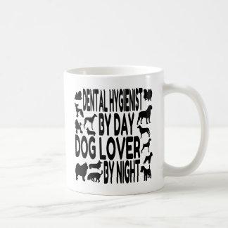 Amante del perro del higienista dental taza de café
