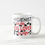 Amante del perro del higienista tazas de café