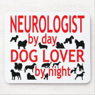 Amante del perro del neurólogo alfombrillas de ratón