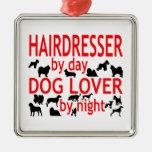 Amante del perro del peluquero ornamento para reyes magos