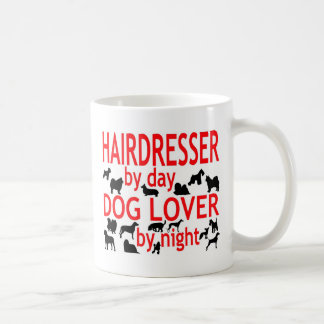 Amante del perro del peluquero taza básica blanca