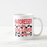 Amante del perro del peluquero tazas