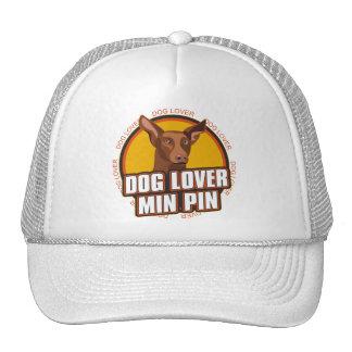 Amante del perro del Pinscher miniatura Gorro De Camionero