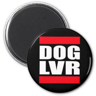 amante del perro del rescate del mascota imán redondo 5 cm