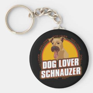 Amante del perro del Schnauzer Llaveros Personalizados