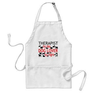 Amante del perro del terapeuta delantales