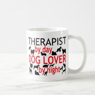 Amante del perro del terapeuta taza