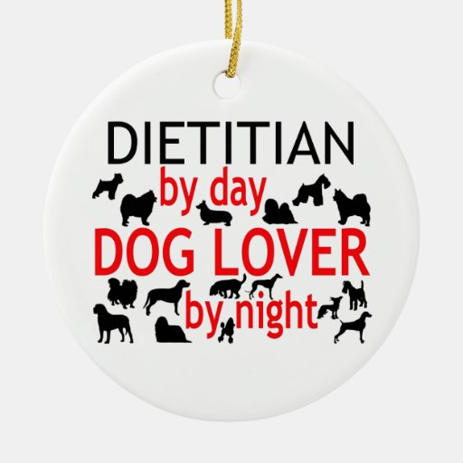 Amante del perro el dietético adorno redondo de cerámica