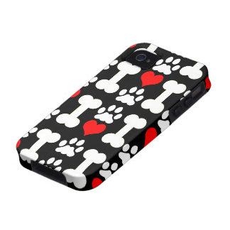 amante del perro vibe iPhone 4 carcasas