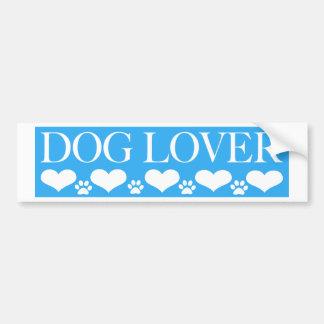Amante del perro pegatina para auto