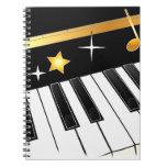 Amante del piano cuaderno