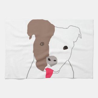 Amante del pitbull toallas de mano