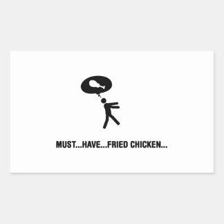 Amante del pollo frito pegatina rectangular