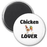 Amante del pollo imán de frigorifico