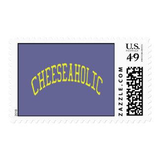 Amante del queso de Cheeseaholic - color de fondo Sellos