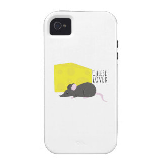 Amante del queso vibe iPhone 4 carcasa