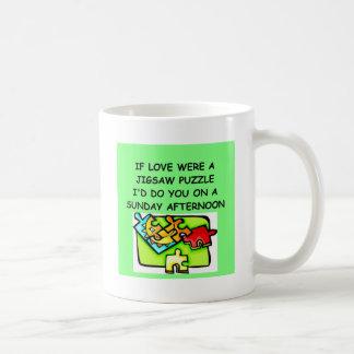 Amante del rompecabezas tazas de café