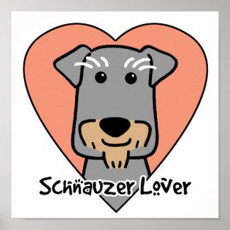 Amante del Schnauzer miniatura Posters