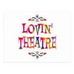 Amante del teatro tarjeta postal