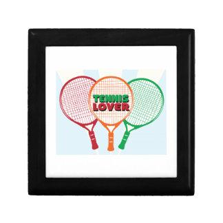 Amante del tenis caja de joyas