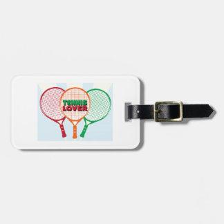 Amante del tenis etiqueta de equipaje