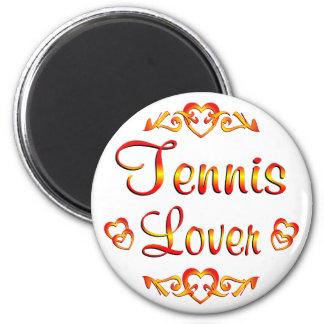 Amante del tenis iman de frigorífico