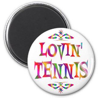 Amante del tenis iman de nevera