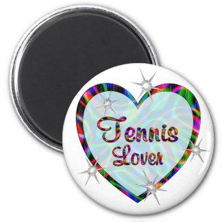 Amante del tenis imanes para frigoríficos