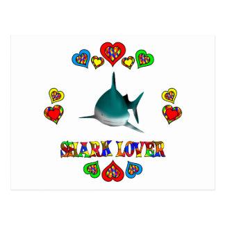 Amante del tiburón postales