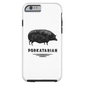 Amante del tocino - Porkatarian - cerdo antiguo Funda De iPhone 6 Tough